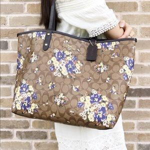 Brand New Coach Floral Reversible Neverfull Tote